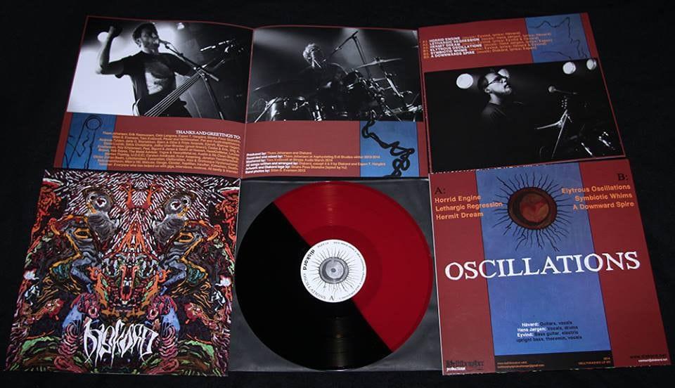 """Diskord – Oscillations 12"""" ( Half Black / Half Red Vinyl)"""