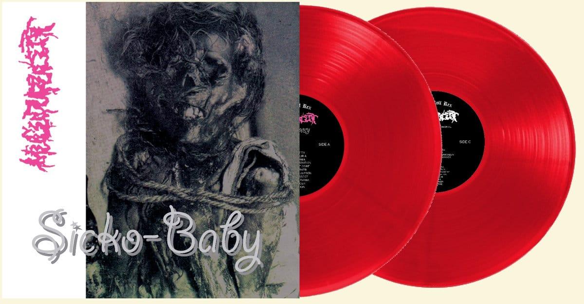 "Mucupurulent – Sick Baby + Demo 2x12"" (Clear Red Vinyl)"
