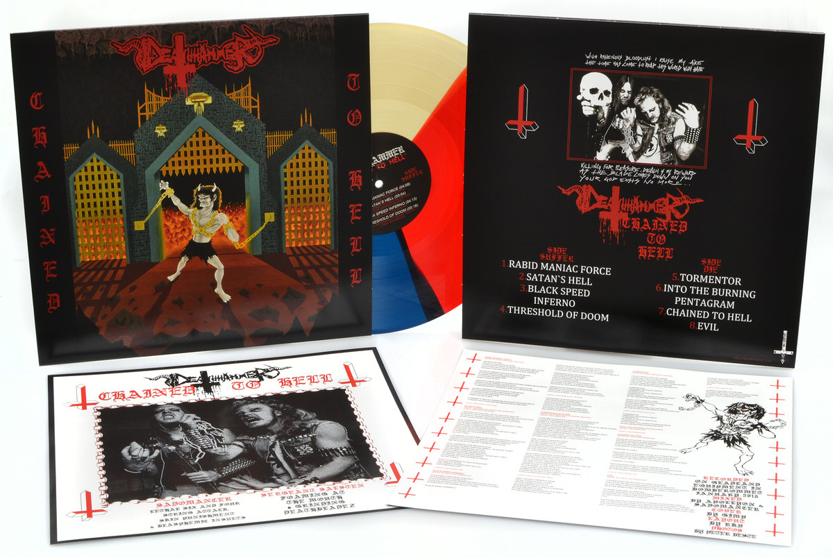 "Deathhammer ‎– Chained To Hell 12"" ( Color Vinyl )"