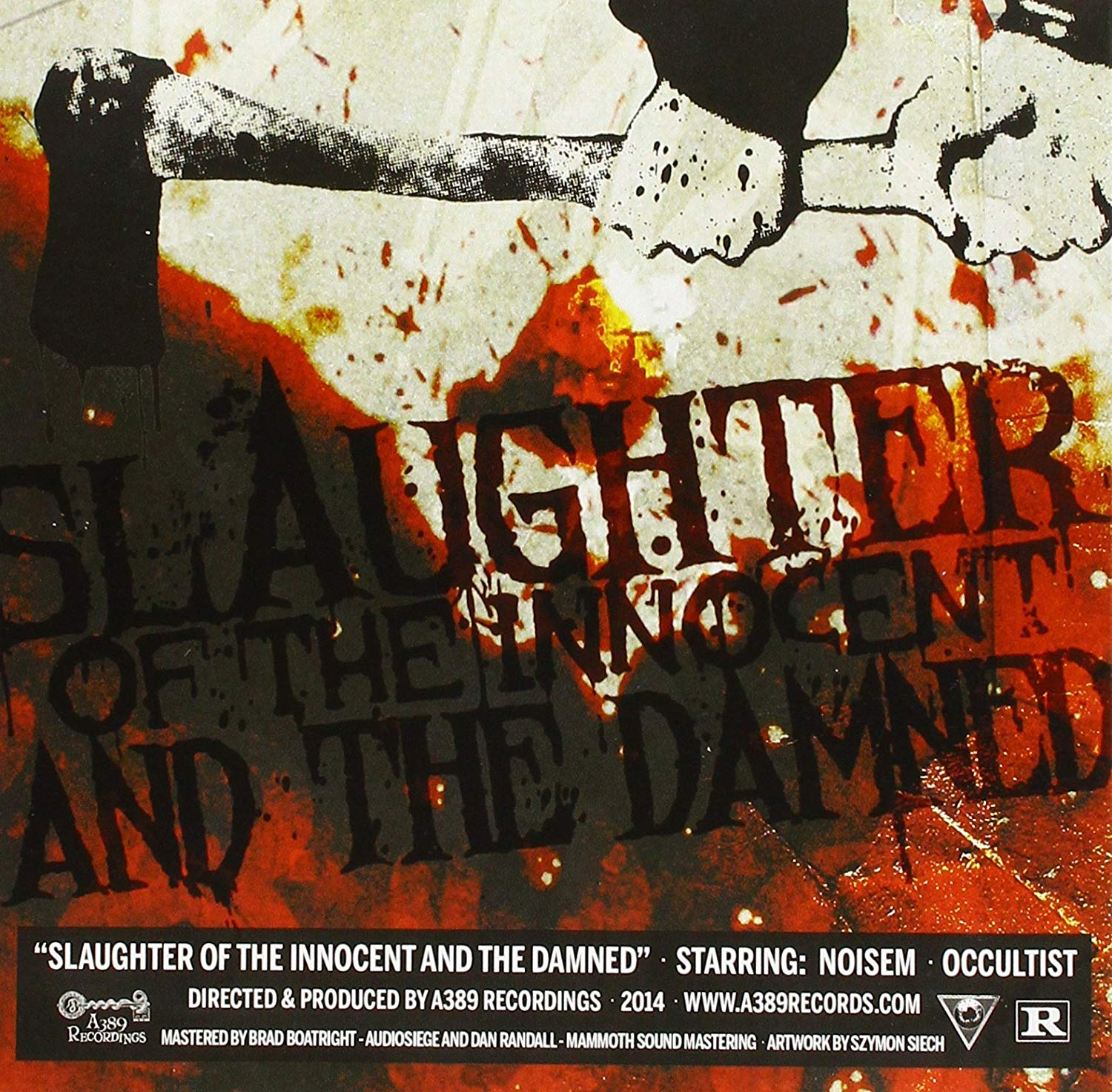 """Noisem / Occultist - Slaughter Of The Innocent And The Damned 7"""" split"""