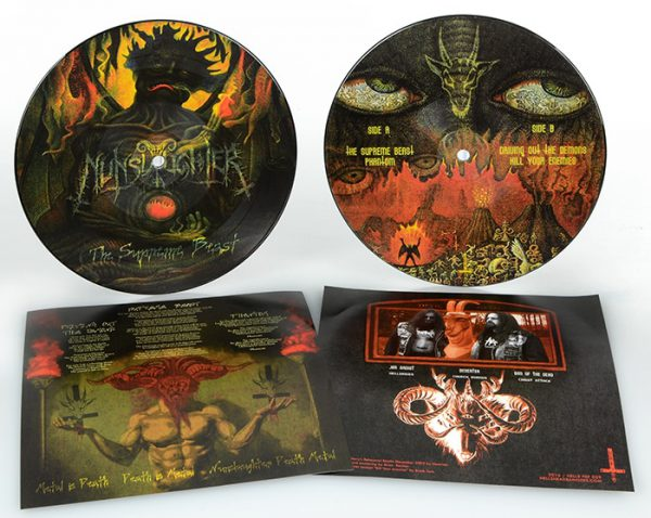 """NunSlaughter – The Supreme Beast 7"""" ( Picture Disc )"""