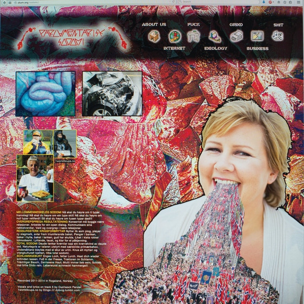 """Parlamentarisk Sodomi / BxSxRx 12"""" (Orange/Purple Split Color Vinyl)"""