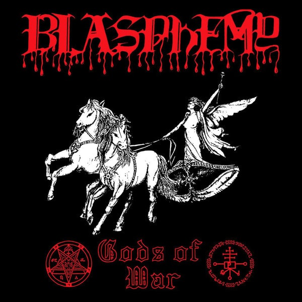 "Blasphemy – Gods Of War 12"" ( Die Hard Version: Gatefold Cover & Red Vinyl + 9"" Strip Patch )"