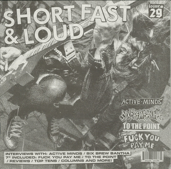 """To The Point / FYPM 7"""" + zine (SHORT FAST & LOUD zine issue # 29.)"""
