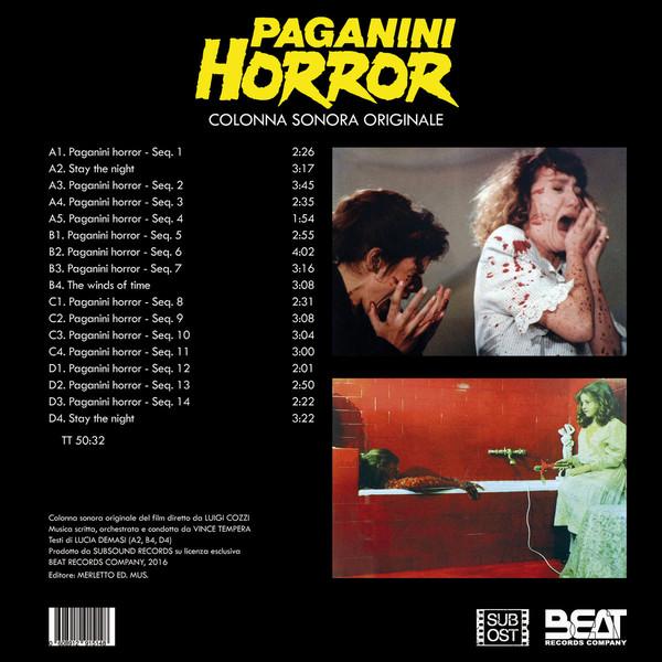 "Vincenzo Tempera – Paganini Horror 2x12"" (Blue Vinyl)"