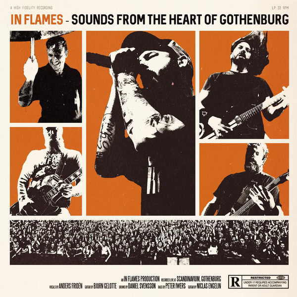 """In Flames – Sounds From The Heart Of Gothenburg BOX ( 3 X 12"""" Orange, White & Black )"""
