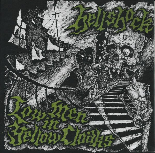 "Hellshock ‎– Low Men In Yellow Cloaks 7"" ( Limit - Screen printed cover & Yellow Vinyl )"