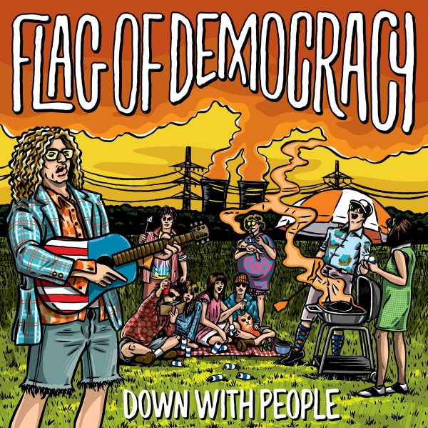 Flag Of Democracy ‎– Down With People (Yellow Vinyl)