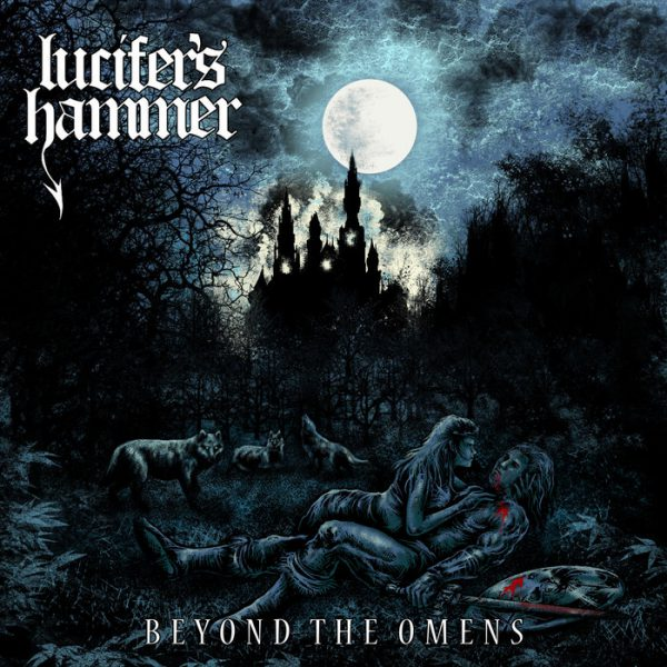 "Lucifer's Hammer ‎– Beyond The Omens 12"" (Blue Black Vinyl )"