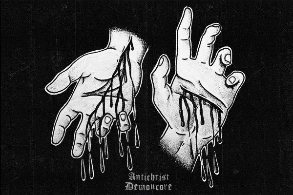 """Antichrist Demoncore (ACxDC) -Postcard 5"""""""