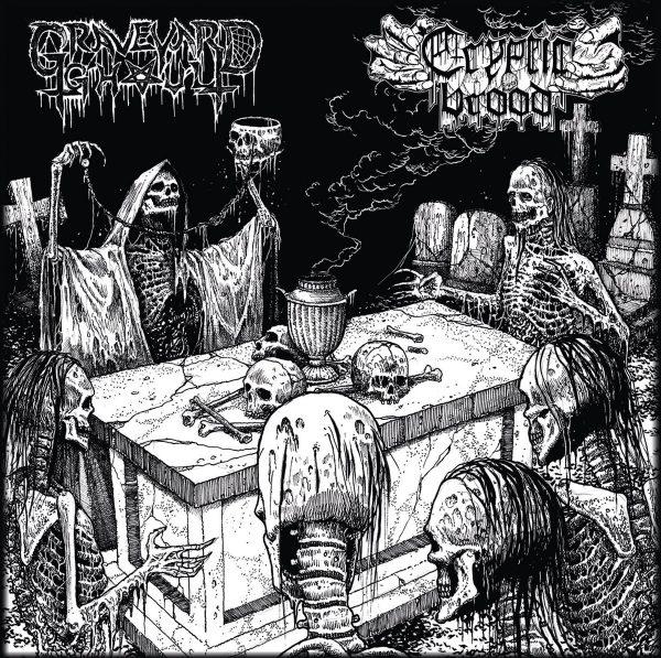 "Cryptic Brood / Graveyard Ghoul 12"" split"