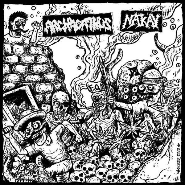 """Archagathus / Nak'ay 10"""" (Color Mix Vinyl)"""