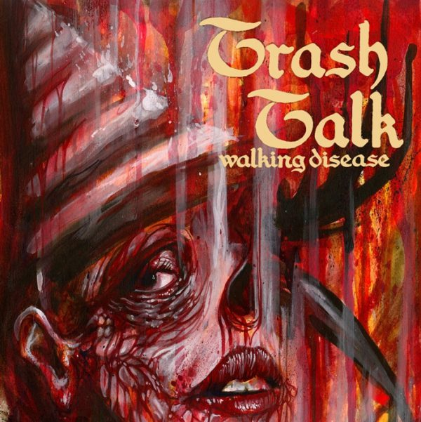 "Trash Talk ‎– Walking Disease 7"" split (White/Purple Vinyl)"