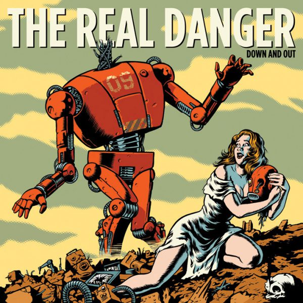 "The Real Danger ‎– Down And Out 12"" (Green Vinyl)"