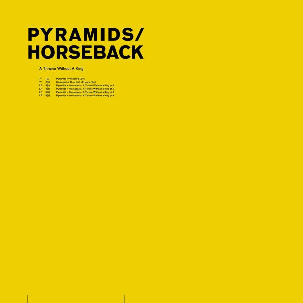 "Horseback / Pyramids ‎– A Throne Without A King 12"" + 7"""