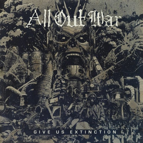 "All Out War ‎– Give Us Extinction 12"" ( Clear Vinyl)"